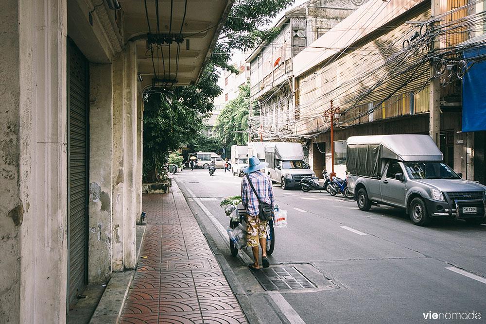 Les rues de Chinatown à Bangkok