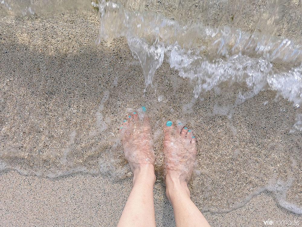 La plage à Tahiti