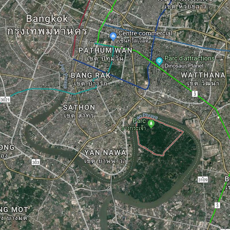 Bang Krachao, le poumon vert de Bangkok