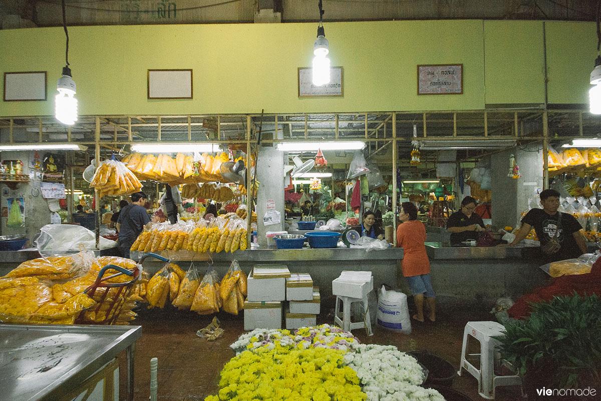 Pak Khlong, marché aux fleurs de Bangkok