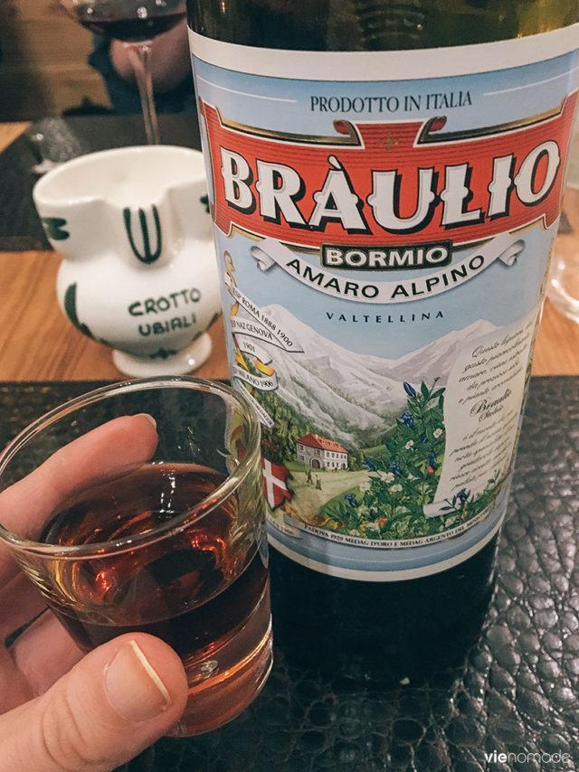 Braulio, un digestif aux herbes de la Valtellina