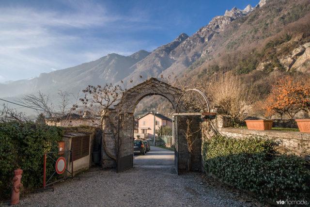 Entrée du Palazzo Vertemate Franchi à Chiavenna