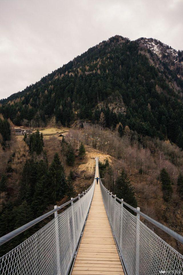 Le Ponte nel Ciel, pont bhoutanais à Tartano, Valtellina
