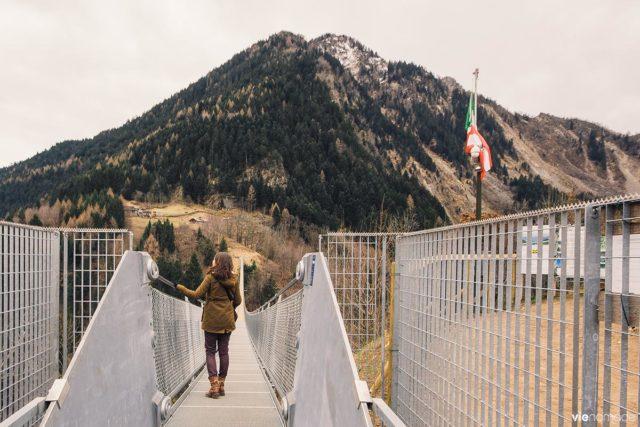 Le Ponte nel Cielo, plus long pont bhoutanais d'europe en Lombardie