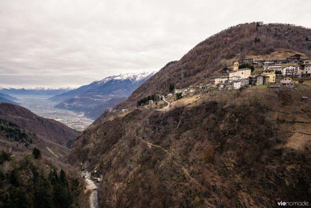 Vue du Ponte nel Cielo a Tartano, dans la Valtellina