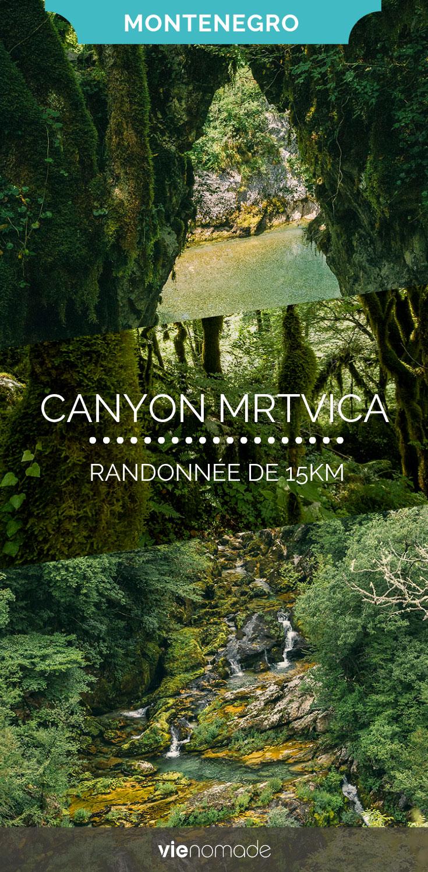 Randonner au Monténégro: Canyon de la Mrtvica