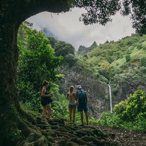 Randonnée à Tahiti: la Fautau'a