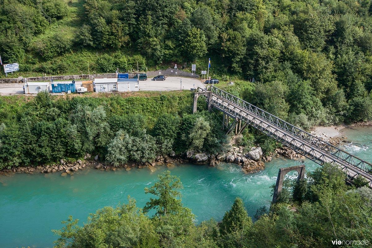 La frontière entre Bosnie et Monténégro: Scepan Polje