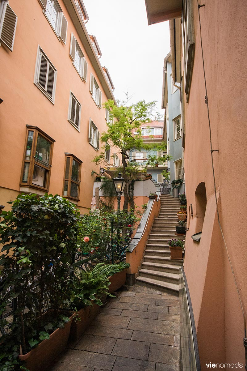 Cours intérieures et passages de Graz