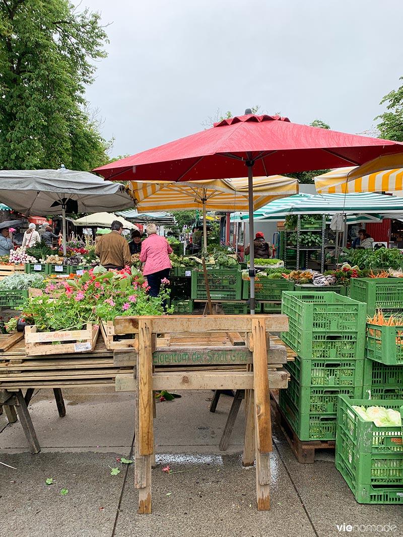 Lendplatz Bauernmarkt: le marché de Graz
