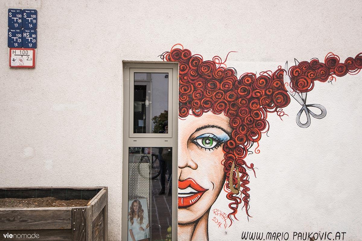 Street art dans le quartier de Lend