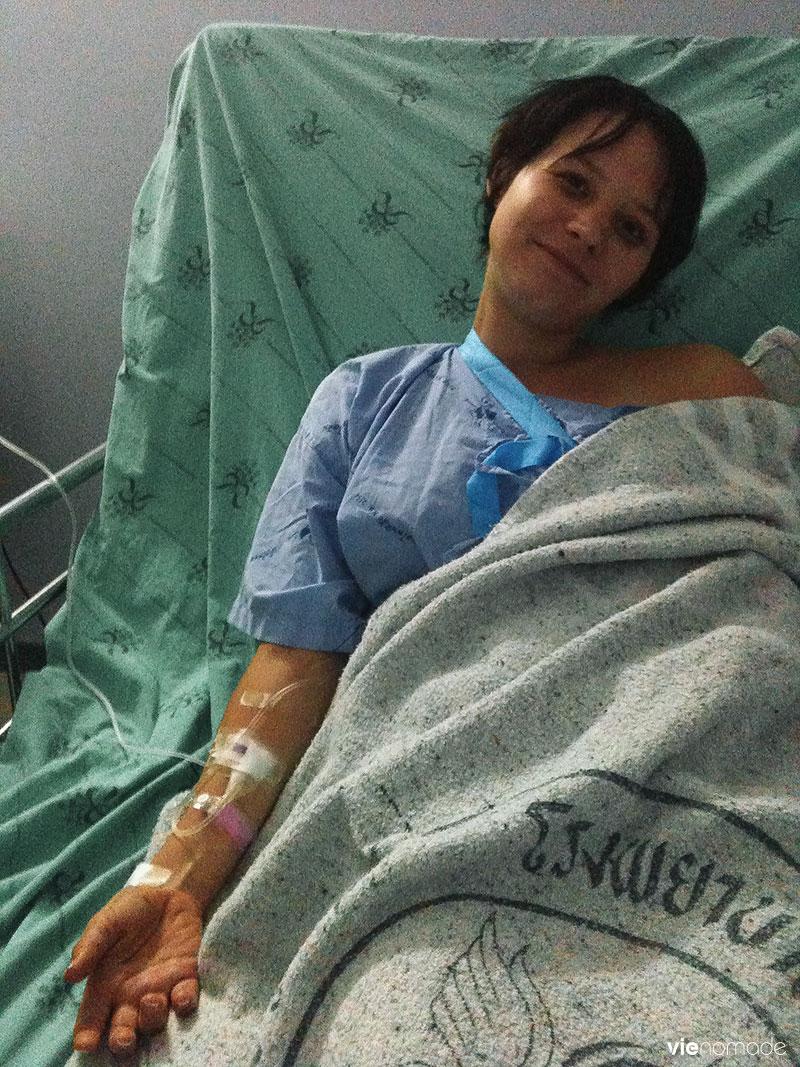 Hanna à l'hôpital