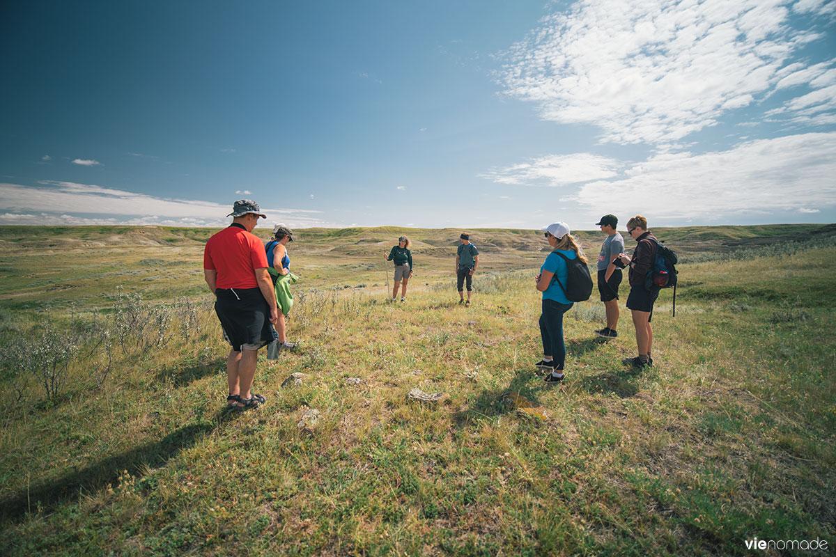 Cercle de tipi dans les Prairies de la Saskatchewan