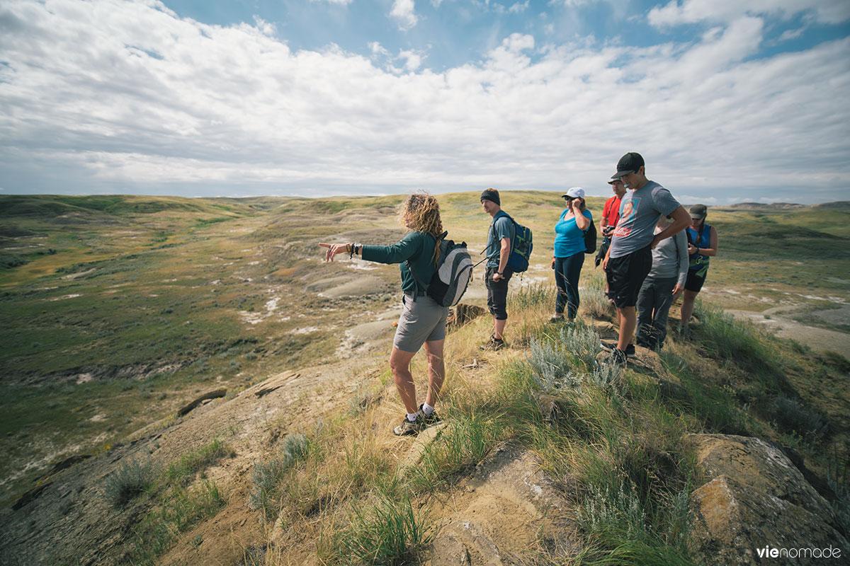 Corelie Keller, guide dans le Parc National des Prairies