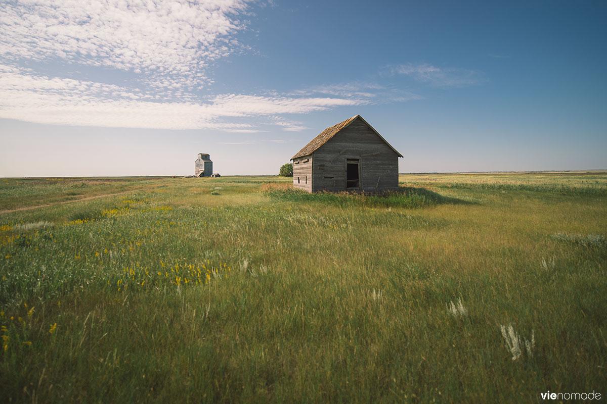 Un élévateur à grains dans la Saskatchewan