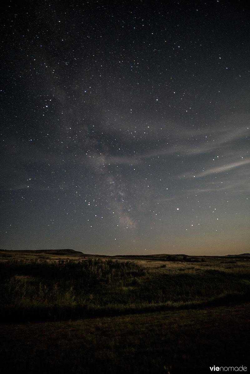 Réserve de ciel étoilé dans les Parc National des Prairies
