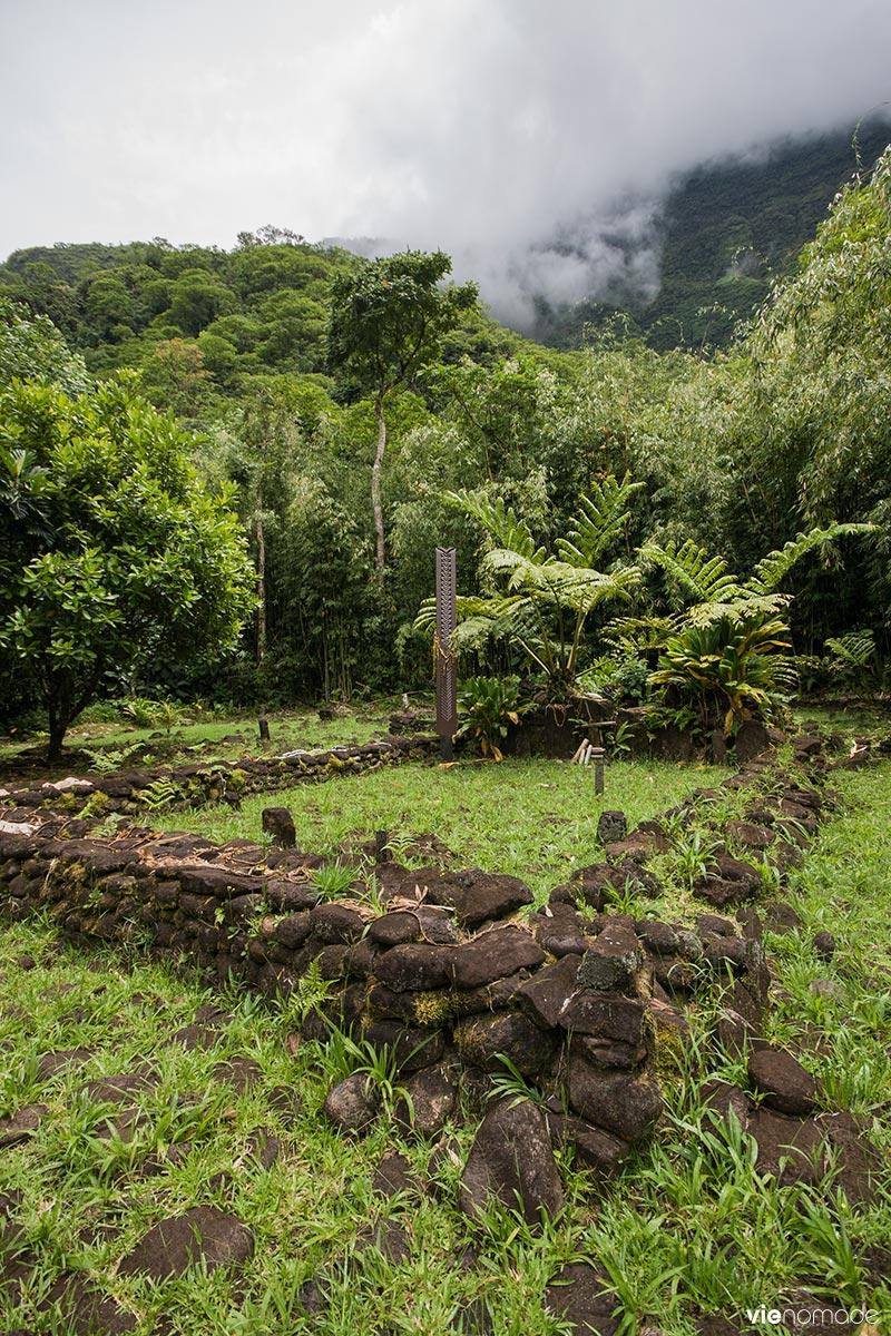L'un des marae, site archéologique de la vallée de la Papenoo