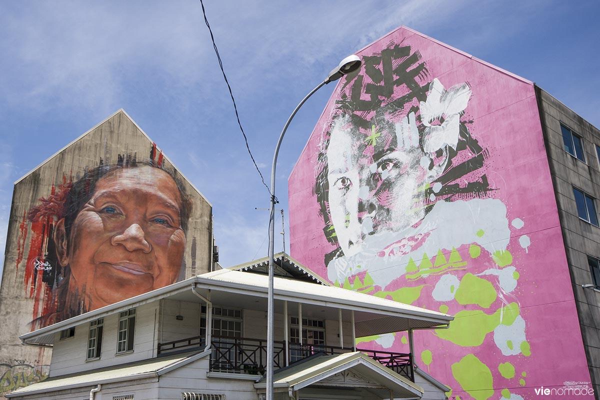 Graffitis à Papeete, Tahiti