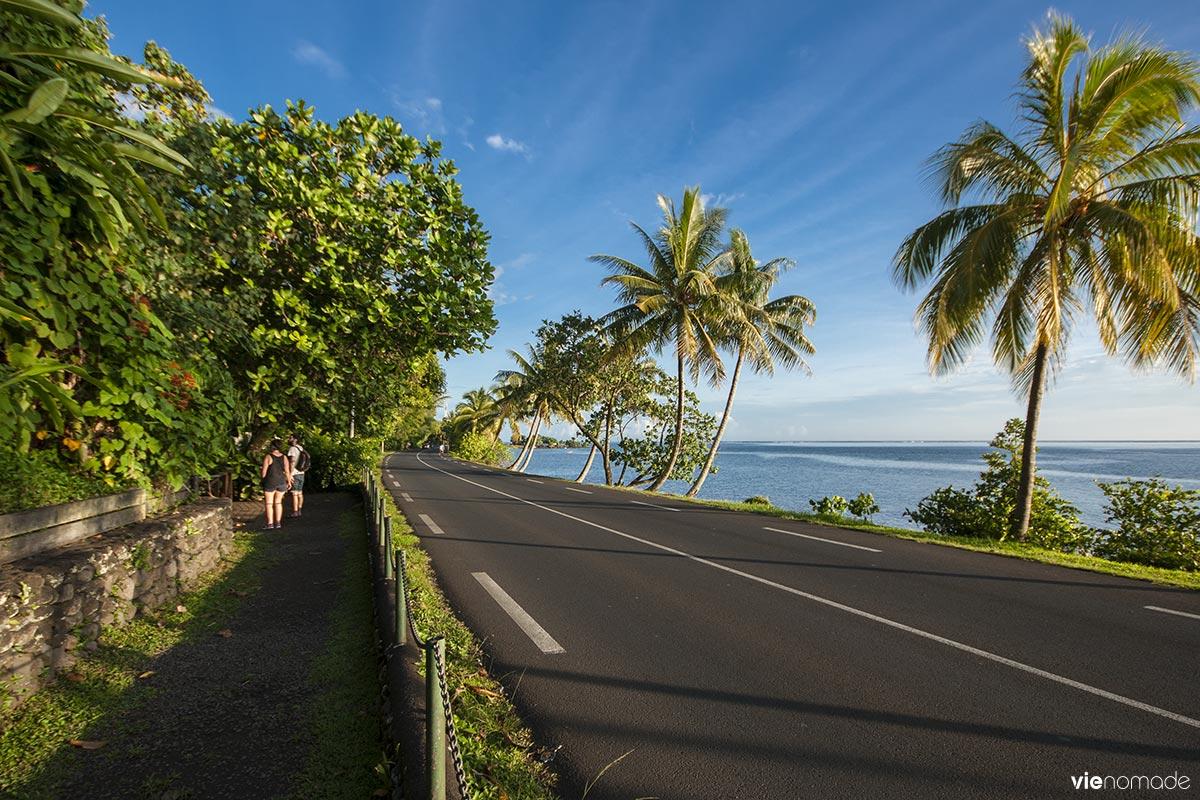 Route entre Taravao et Papara