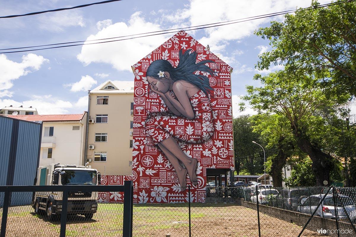 Street art à Papeete, tahiti